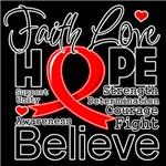 Faith Hope Heart Disease Shirts