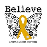 Believe - Appendix Cancer Shirts and Gifts