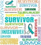 Survivor Colorful Cervical Cancer Shirts