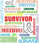 Survivor Colorful Bone Cancer Shirts