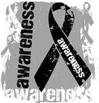 Skin Cancer Awareness Grunge Ribbon Shirts