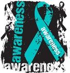 Peritoneal Cancer Awareness Grunge Ribbon Shirts
