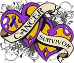 Bladder Cancer Survivor Double Hearts Shirts