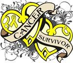 Sarcoma Cancer Survivor Double Heart Shirts