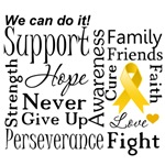 Neuroblastoma Supportive Words Shirts and Gifts