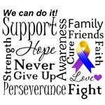Bladder Cancer Supportive Words Shirts
