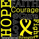 Hope Faith Courage Sarcoma Shirts