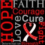 Hope Faith Courage Oral Cancer Shirts