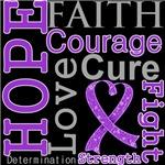 Hope Faith Courage Leiomyosarcoma Shirts