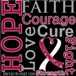 Hope Faith Courage Head Neck Cancer Shirts