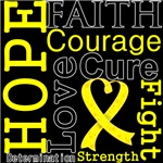 Hope Faith Courage Ewing Sarcoma Shirts