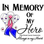 In Memory of My Hero Male Breast Cancer Shirts