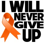 I Will Never Give Up Kidney Cancer Shirts
