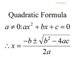 Mathlady-Quadratic Formula
