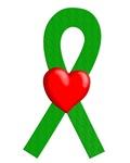 Green Ribbon Heart