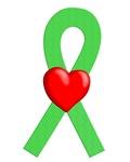 Lime Ribbon Heart