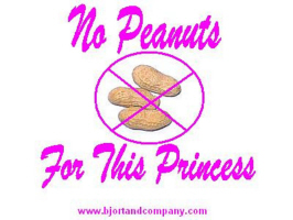 No Peanuts For This Princess T-Shirts/Accessories