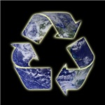Recycle Earth on black