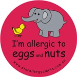 I'm allergic to eggs and nuts-red