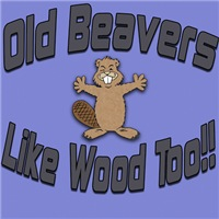 Old Beavers Like Wood Too!
