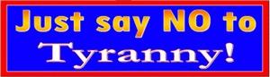 No to Tyranny