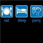 eat sleep party