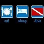 eat sleep dive (flag)