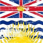 Vintage British Columbia Province Flag