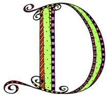 What Fun Monogram D