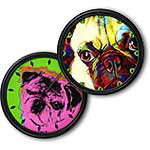 Chinese Pug Clocks
