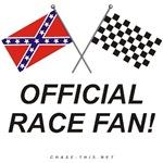 REBEL & CHECKERED FLAG<br />OFFICIAL RACE FAN