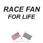 AMERICAN & CHECKERED FLAG<br />RACE FAN FOR LIFE