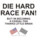 AMERICAN & CHECKERED FLAG<BR/>DIE HARD-CASUAL FAN