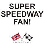 REBEL & CHECKERED FLAG<br />SUPER SPEEDWAY FAN