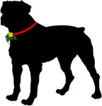Christmas or Holiday Rottweiler Jingle Bell Silhou