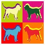 Bloodhound Silhouette Pop Art