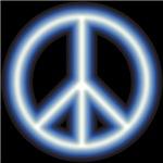 Blue Peace Symbol Shirts