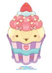 Kawaii Strawberry Cupcake