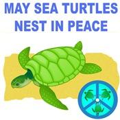 SEA TURTLES NEST IN PEACE WOMEN & MEN LIGHT