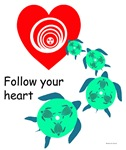 Follow Heart  Women's Turtle Shirt