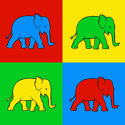 Pop Art Elephant