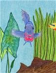 Fish Face (blue)