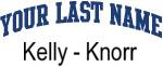 Blue Surname Design Kelly - Knorr