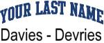 Blue Surname Design Davies - Devries