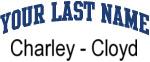 Blue Surname Design Charley - Cloyd