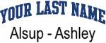 Blue Surname Design Alsup - Ashley