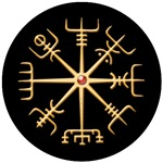 Gold Viking Compass Disk