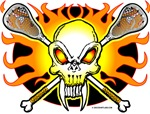 Lacrosse Skull and Crossbones