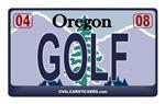 Oregon License Plate - GOLF