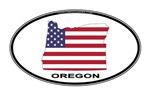 Oregon Shape USA Oval